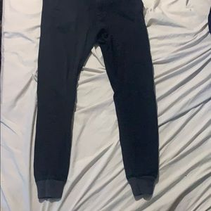 Zanerobe black joggers tight fit